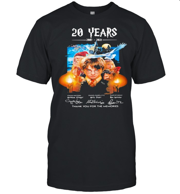20 Years Of 2001 2021 Thank You For The Memories Harry Potter shirt