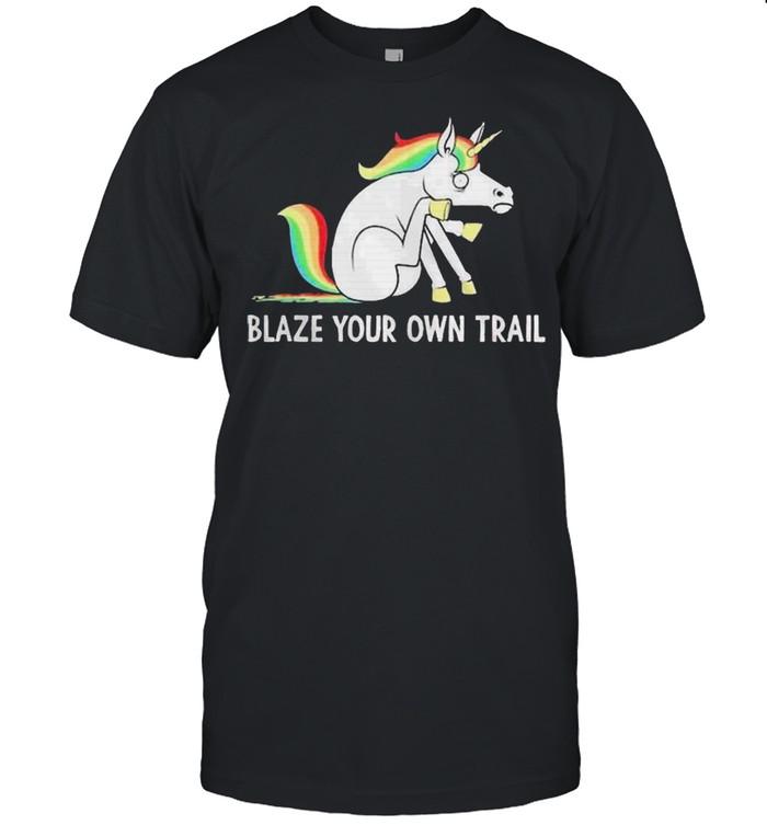 LGBT Unicorn blaze your own trail shirt