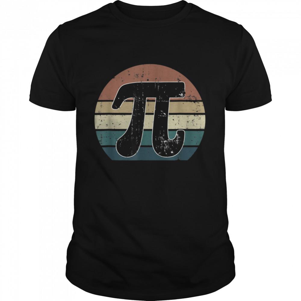 Pi Day Retro Vintage Math Geek Teacher Student shirt