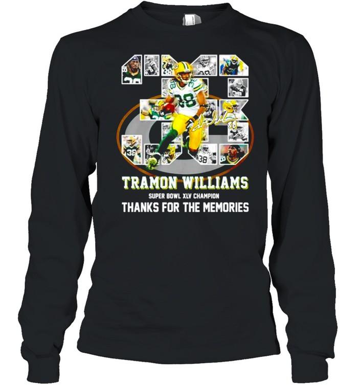 38 Tramon Williams super bowl XLV champion thanks for the memories shirt Long Sleeved T-shirt