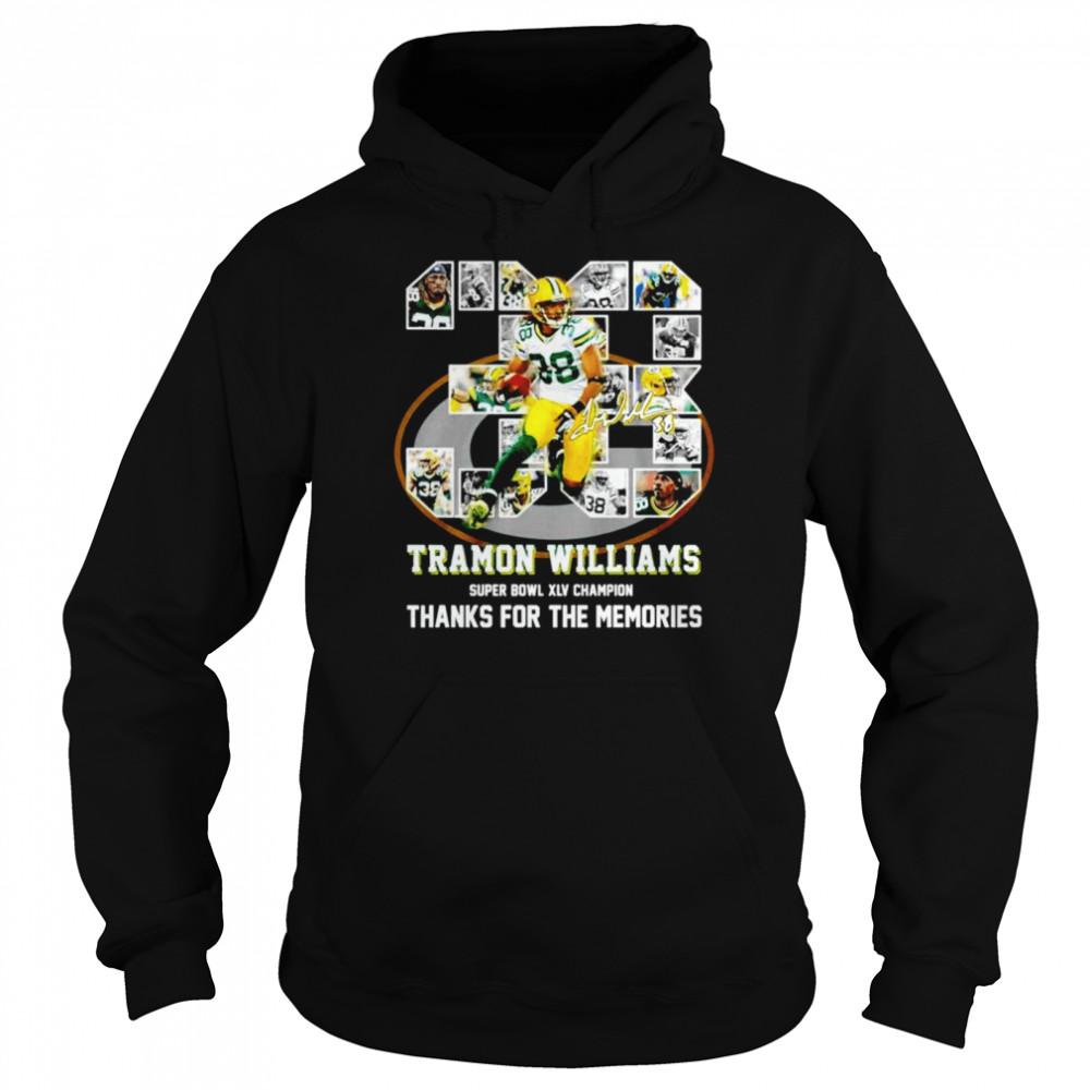 38 Tramon Williams super bowl XLV champion thanks for the memories shirt Unisex Hoodie