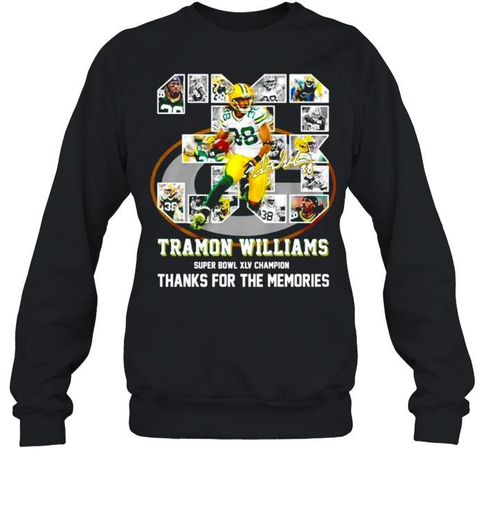 38 Tramon Williams super bowl XLV champion thanks for the memories shirt Unisex Sweatshirt