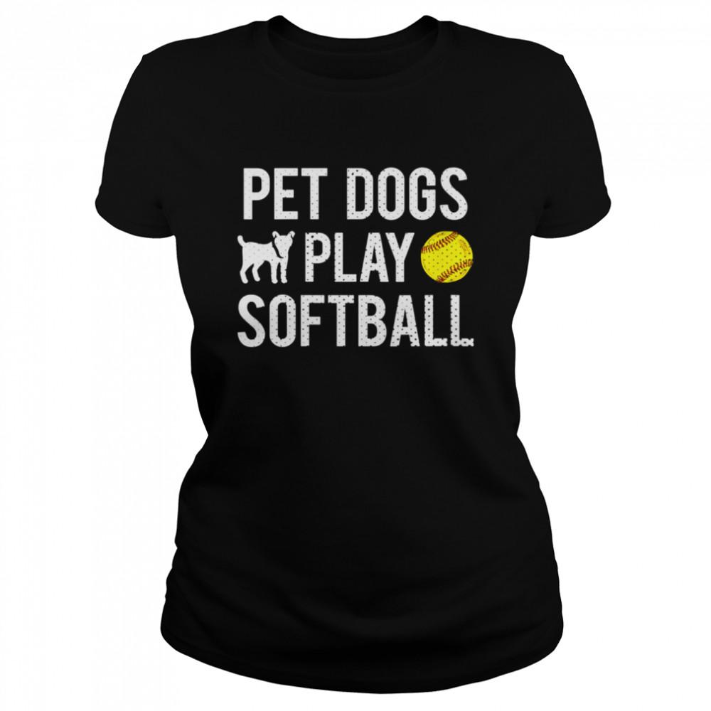 Fastpitch Softball Dogs shirt Classic Women's T-shirt