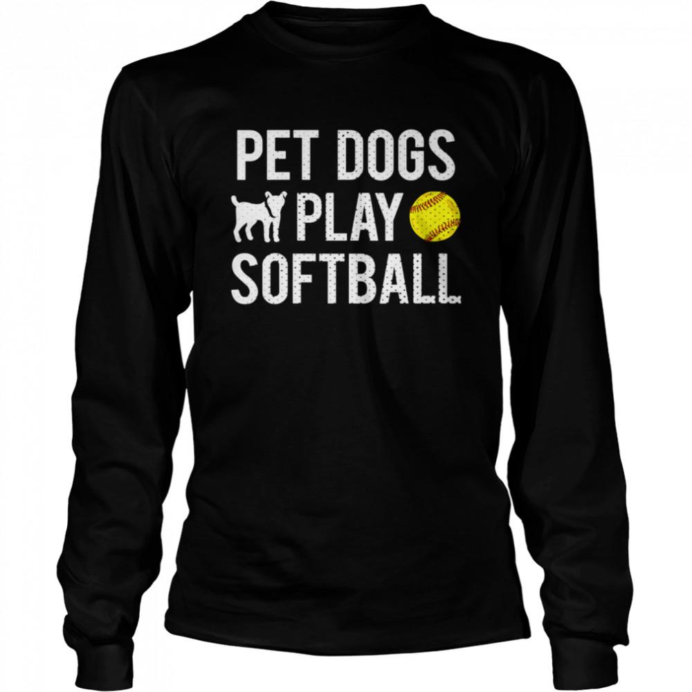 Fastpitch Softball Dogs shirt Long Sleeved T-shirt