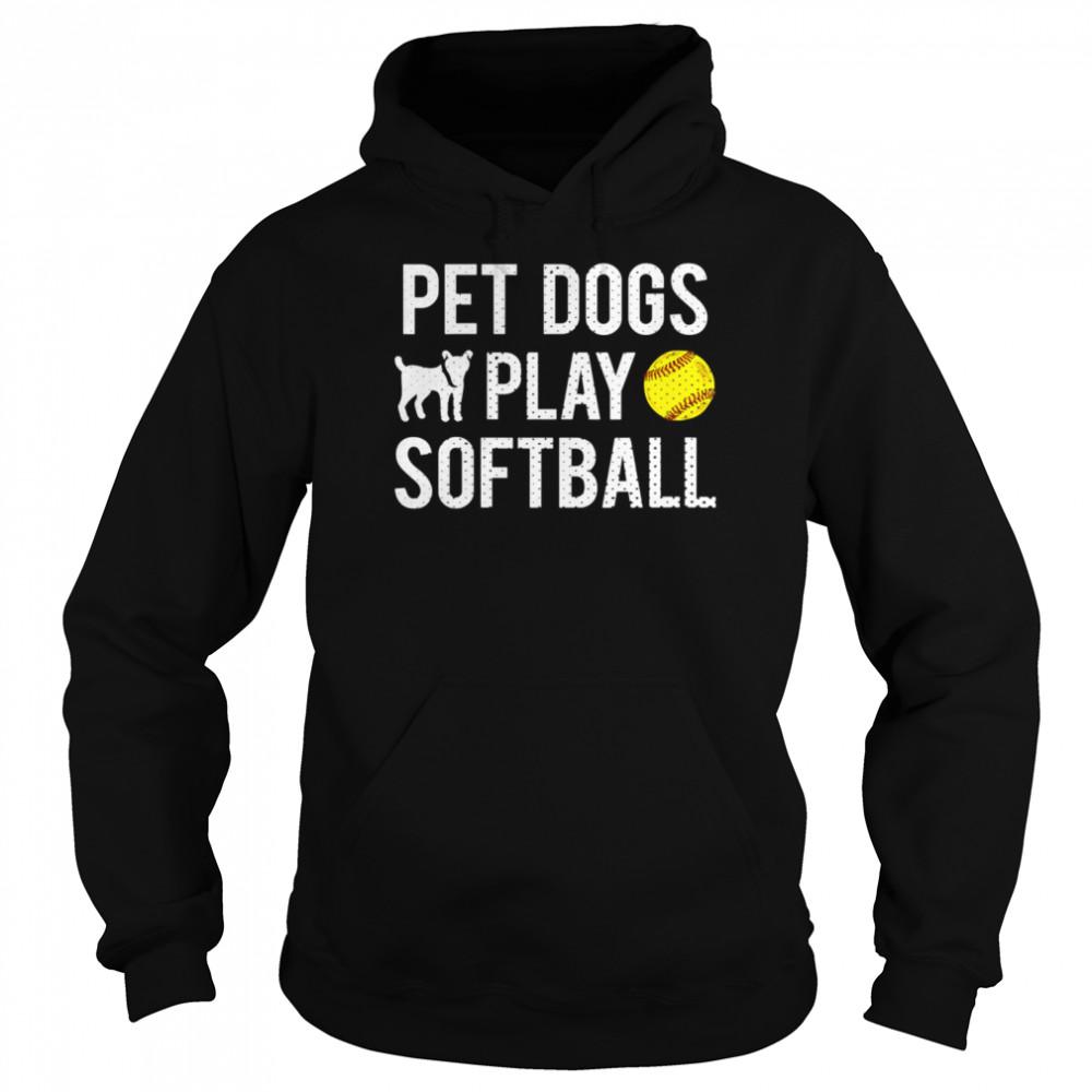 Fastpitch Softball Dogs shirt Unisex Hoodie