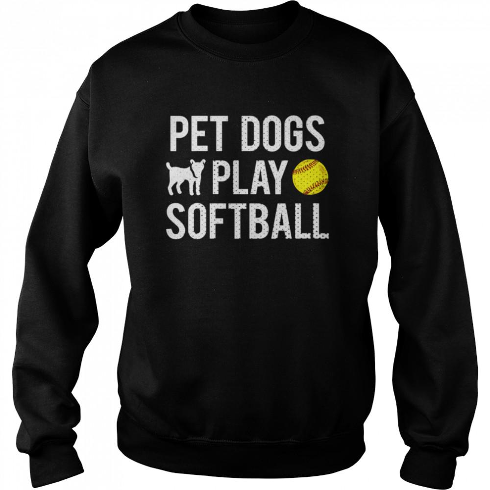 Fastpitch Softball Dogs shirt Unisex Sweatshirt