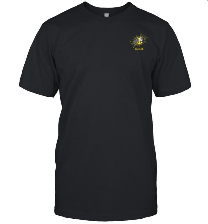 1% Club Navy Master Chief E9 MCPO Pride Shirt
