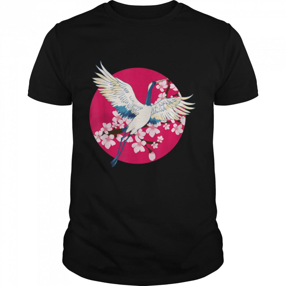 Common Crane Flowers Bird Animal Birdie Nature Shirt