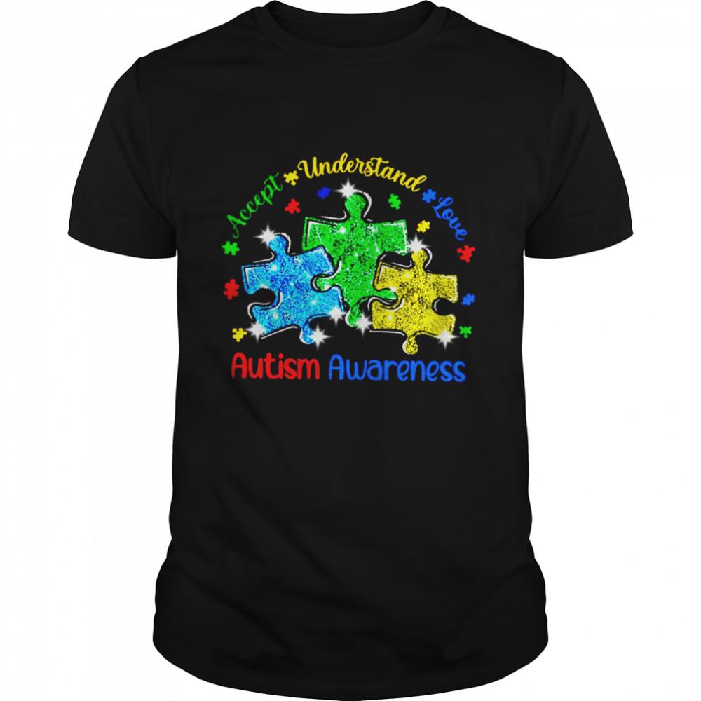 Accept Understand Love Diamond Autism Awareness shirt