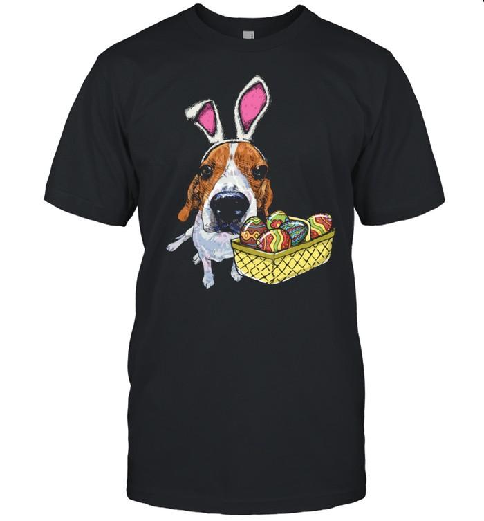 Beagle Dog Bunny Ears Easter Eggs Shirt