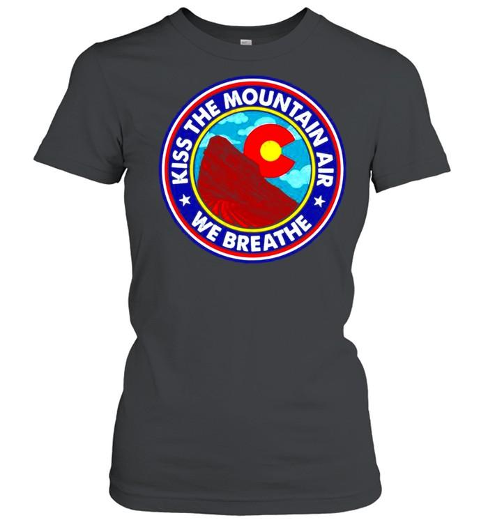 Kiss the mountain air we breathe red rocks amphitheatre shirt Classic Women's T-shirt