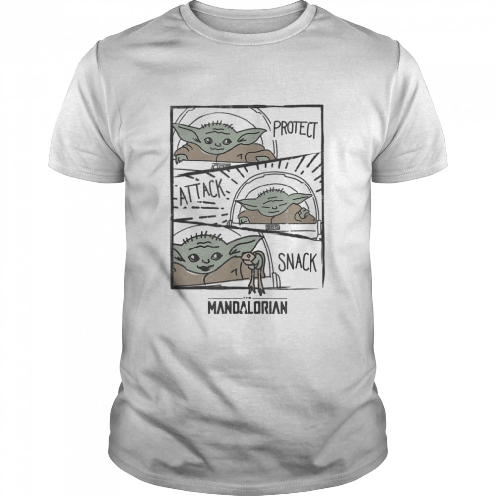 Star Wars The Mandalorian The Child Protect Attack Snack Shirt