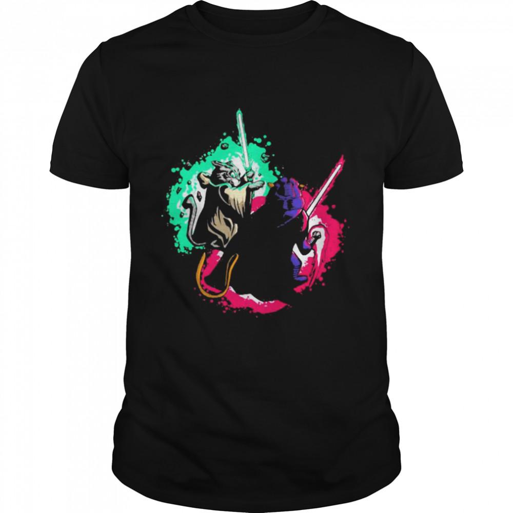 Cat Wars Sword Fighting Cats Shirt