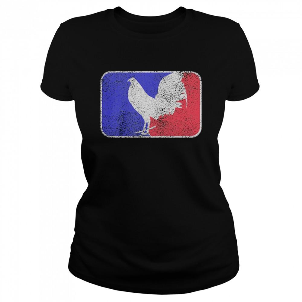 Chicken France Flag shirt Classic Women's T-shirt
