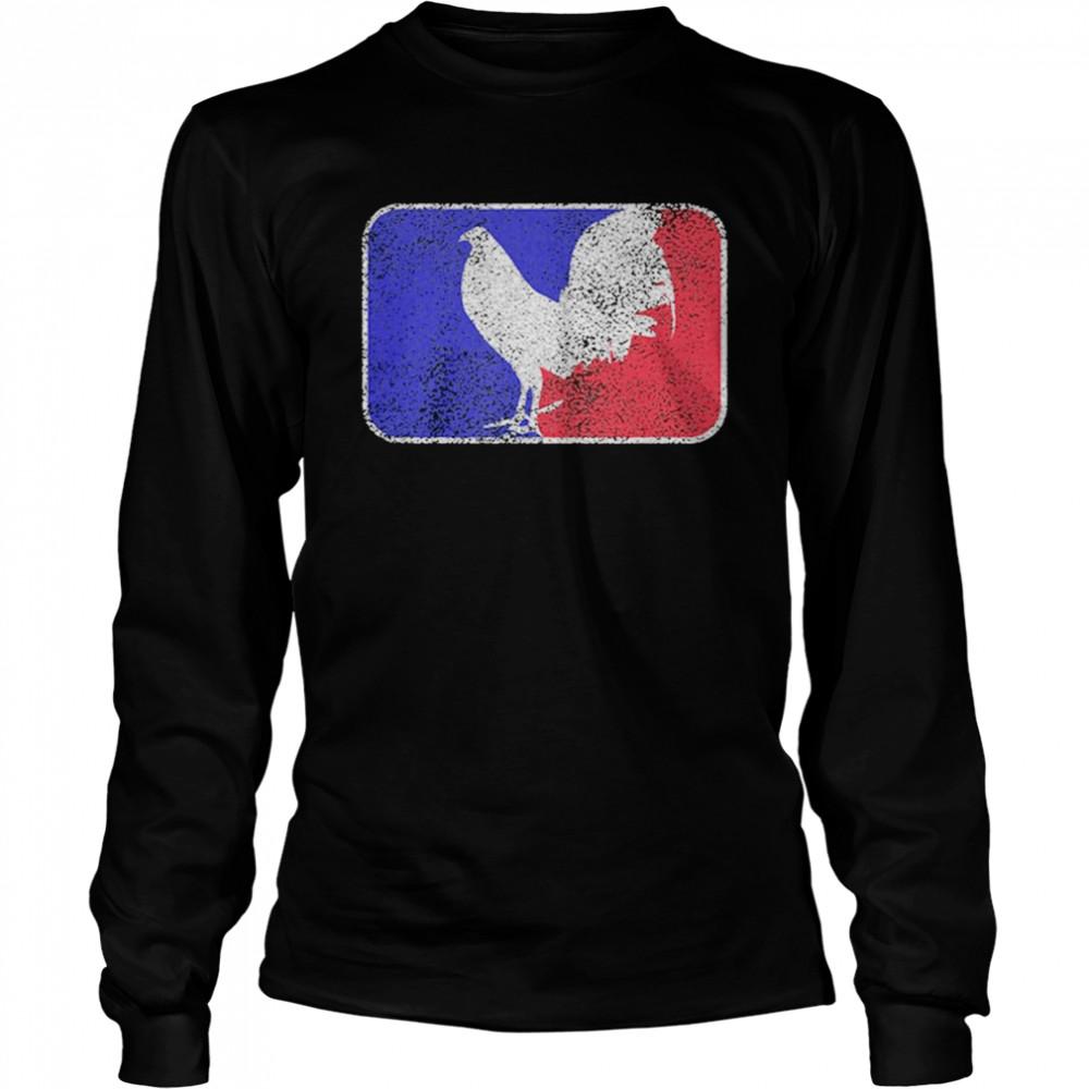 Chicken France Flag shirt Long Sleeved T-shirt
