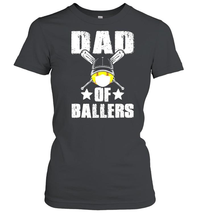 Dad Of Ballers Face Mask shirt Classic Women's T-shirt