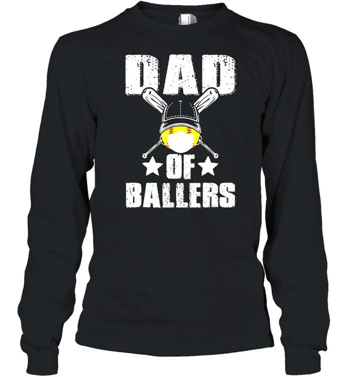 Dad Of Ballers Face Mask shirt Long Sleeved T-shirt