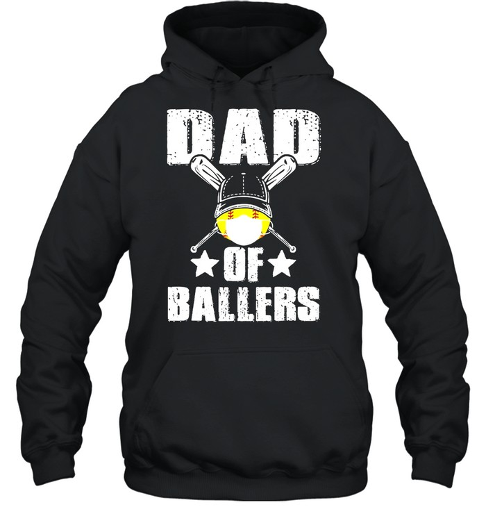 Dad Of Ballers Face Mask shirt Unisex Hoodie
