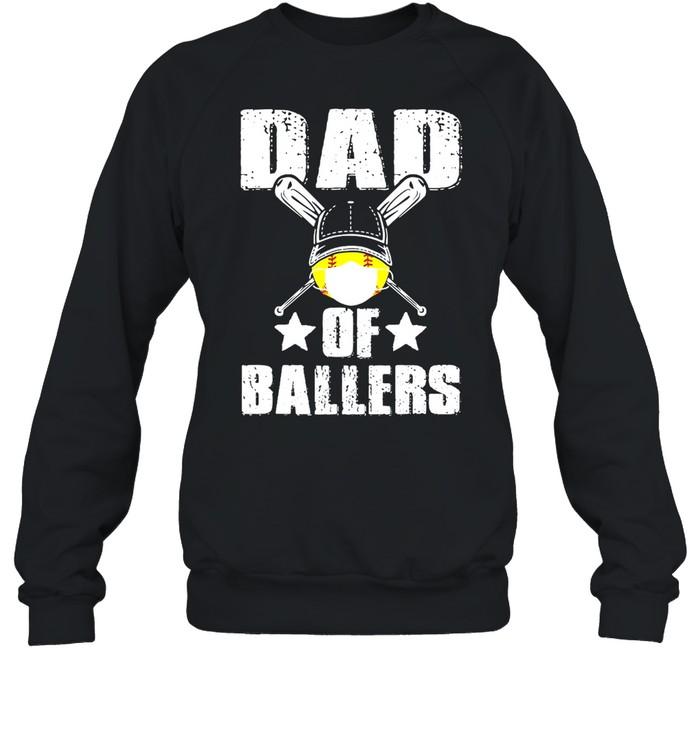 Dad Of Ballers Face Mask shirt Unisex Sweatshirt