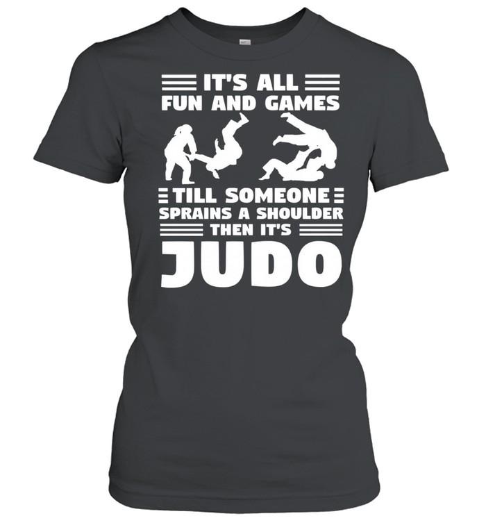 Its all fun and games till someone sprains a shou shirt Classic Women's T-shirt