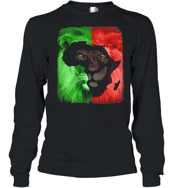 Jamaican Rasta Lion shirt Long Sleeved T-shirt