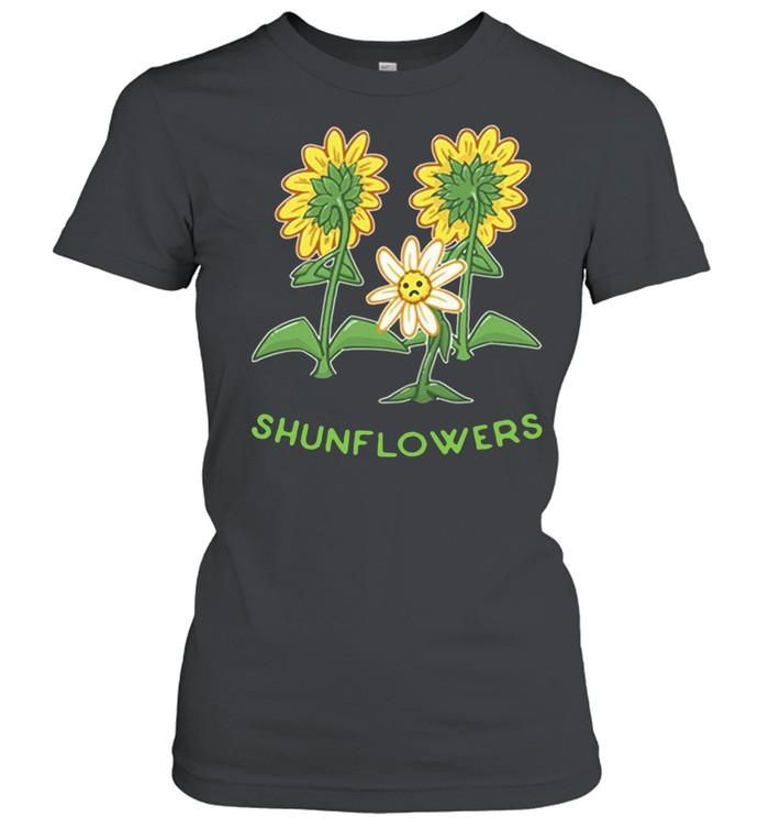 Sunflowers sad shirt Classic Women's T-shirt